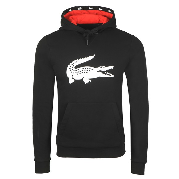 Lacoste Sport Mens Black SH8687 Hooded Sweatshirt