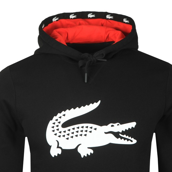 Lacoste Sport Mens Black SH8687 Hooded Sweatshirt main image