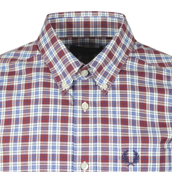 Fred Perry Mens Red Small Check Shirt
