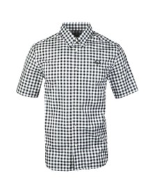 Fred Perry Mens Black S/S 2 Colour Gingham Shirt