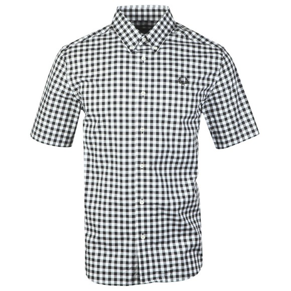 Fred Perry Mens Black S/S 2 Colour Gingham Shirt main image