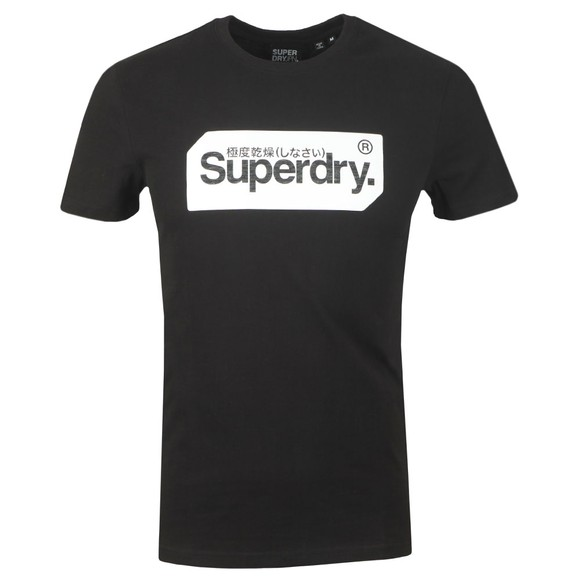 Superdry Mens Black Core Logo Tag T-Shirt