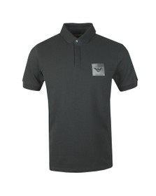 Emporio Armani Mens Grey Reflective Box Logo Polo Shirt