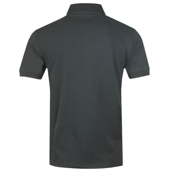 Emporio Armani Mens Grey Reflective Box Logo Polo Shirt main image