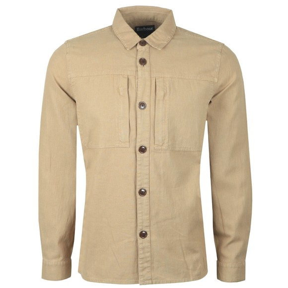 Barbour Lifestyle Mens Beige Kilda Overshirt