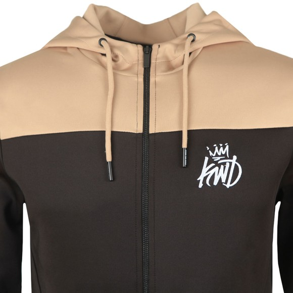 Kings Will Dream Mens Black Vesy Marl Zip Poly Hoodie  main image