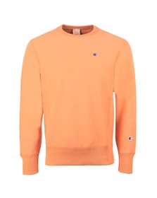 Champion Mens Orange Logo Reverse Weave Sweatshirt
