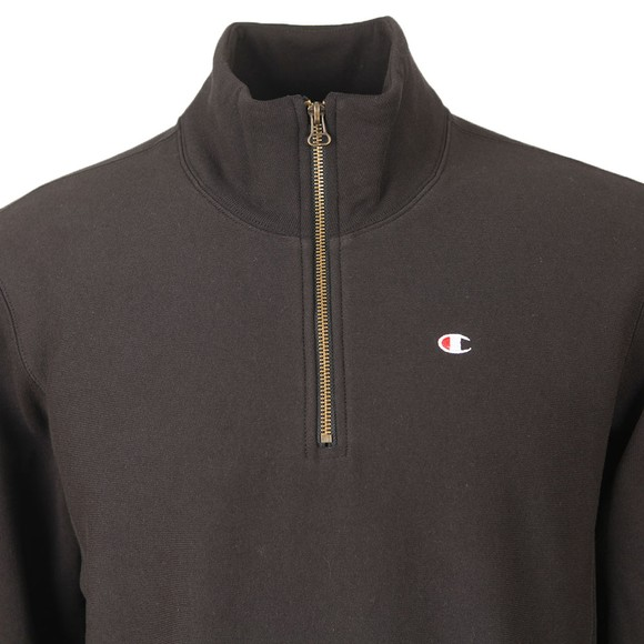 Champion Reverse Weave Mens Black 1/2 Zip Sweatshirt main image