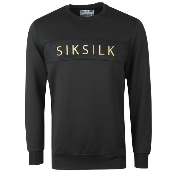Sik Silk Mens Black Crew Sweatshirt