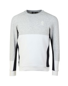 Gym King Mens White Minfield Crew Sweatshirt