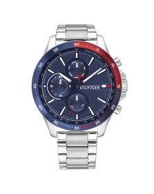 Tommy Hilfiger Mens Silver Bank Watch