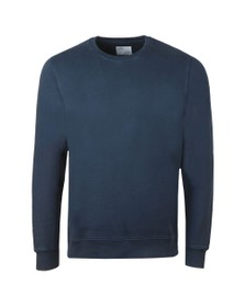 Colorful Standard Mens Blue Oraginc Crew Sweat