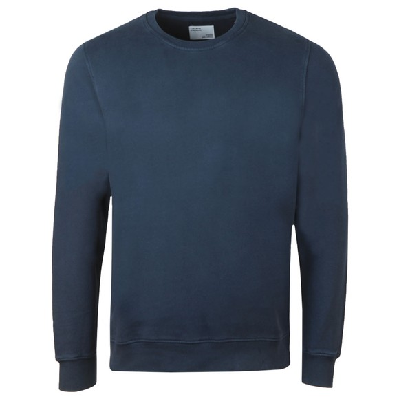 Colorful Standard Mens Blue Organic Crew Sweatshirt