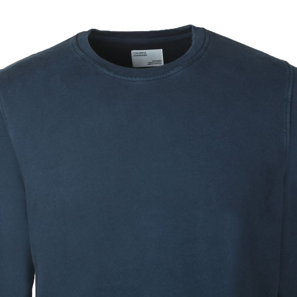 Colorful Standard Mens Blue Organic Crew Sweatshirt