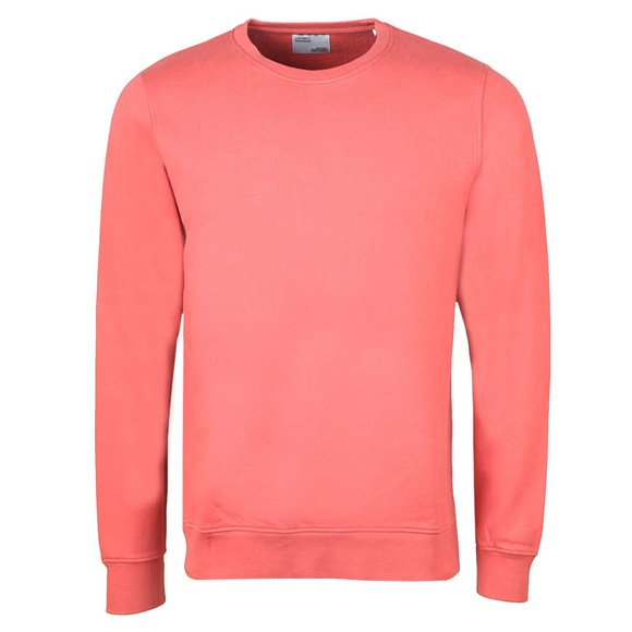 Colorful Standard Mens Orange Organic Crew Sweatshirt