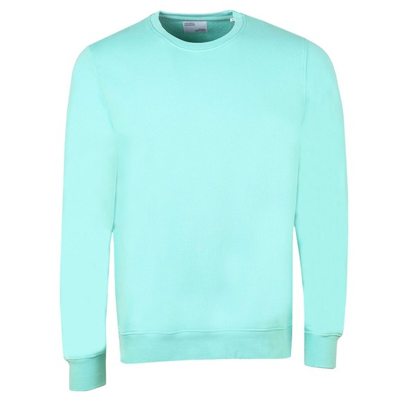 Colorful Standard Mens Green Organic Crew Sweatshirt main image
