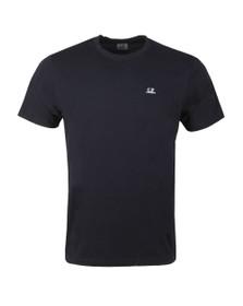 C.P. Company Mens Blue Plain Small Logo T-Shirt