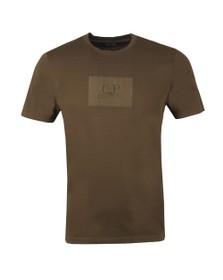 C.P. Company Mens Green Box Patch T-Shirt