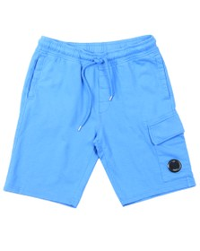 C.P. Company Mens Blue Bermuda Cargo Sweat Short