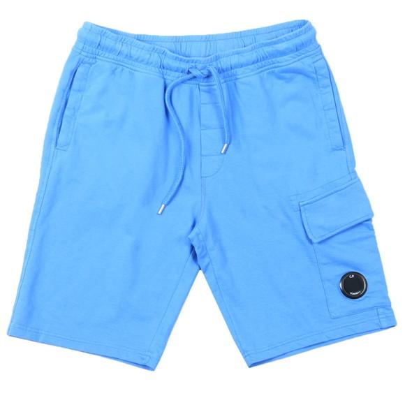 C.P. Company Mens Blue Bermuda Cargo Sweat Short