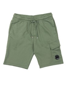 C.P. Company Mens Green Bermuda Cargo Sweat Short