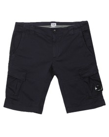 C.P. Company Mens Blue Bermuda Cargo Raso Stretch Short