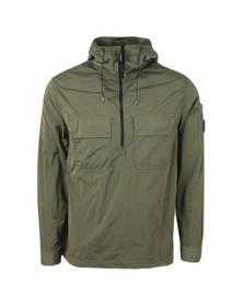 C.P. Company Mens Green Nylon Hooded Overshirt