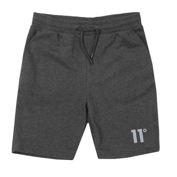 Eleven Degrees Mens Grey Core Sweat Short