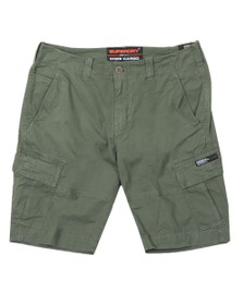 Superdry Mens Green Core Cargo Shorts