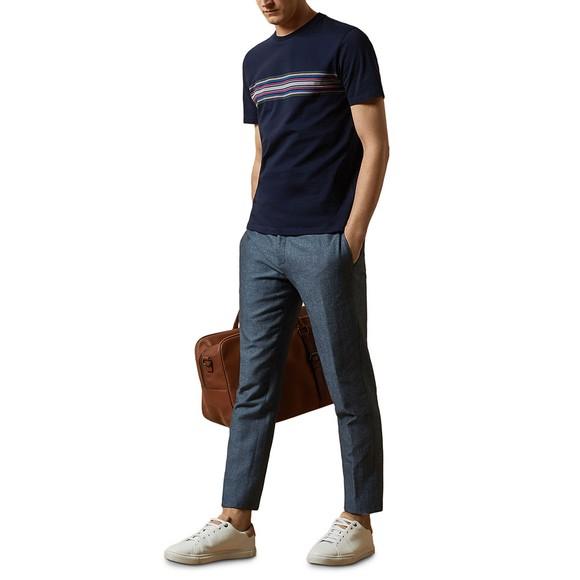 Ted Baker Mens Blue Stripe Chest T-Shirt main image