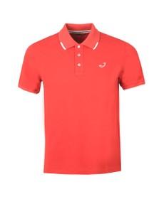 Jacob Cohen Mens Red Pique Tipped Polo Shirt