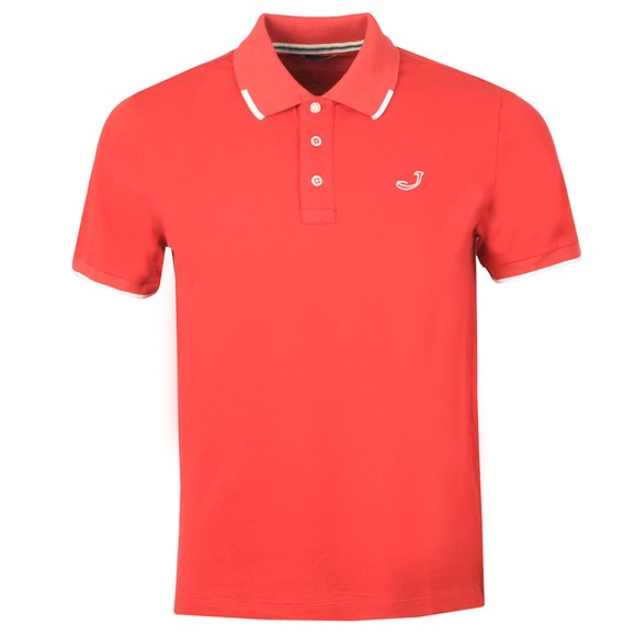 Jacob Cohen Mens Red Pique Tipped Polo Shirt