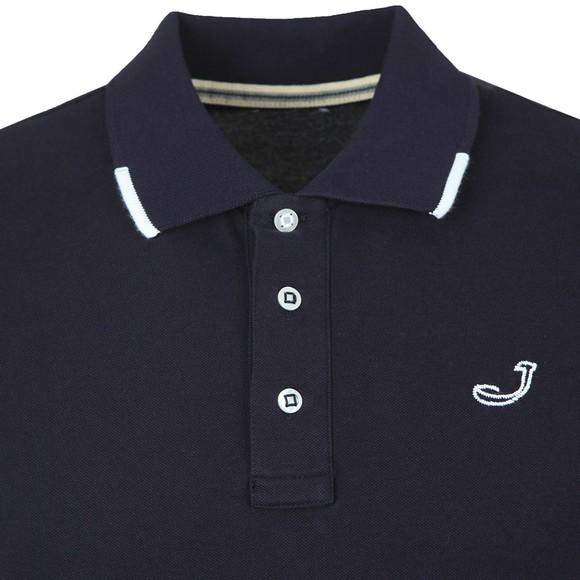 Jacob Cohen Mens Blue Pique Tipped Polo Shirt
