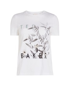 Ted Baker Womens White Zoeiiy Everglade Branded Tee