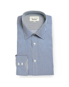 Ted Baker Mens Blue Striped Timeless Endurance Shirt