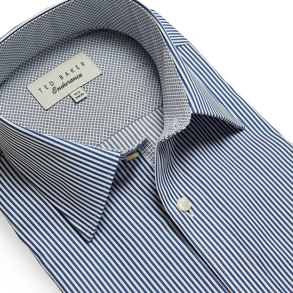 Ted Baker Mens Blue Striped Timeless Endurance Shirt main image