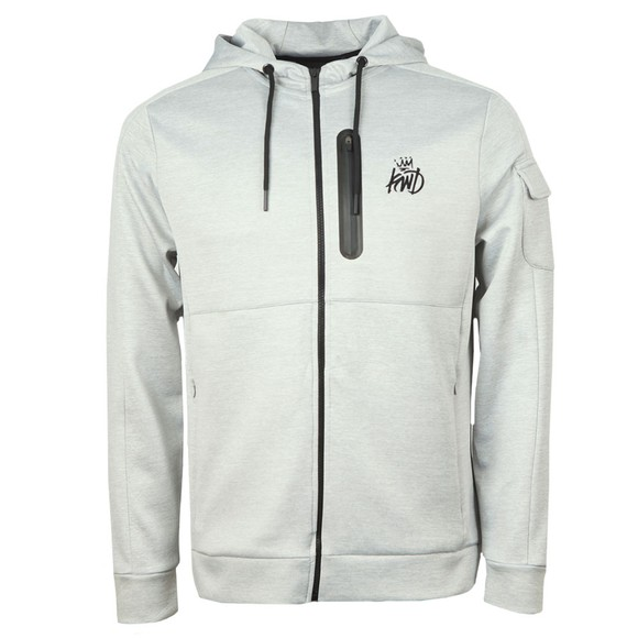 Kings Will Dream Mens Grey Avell Zip Hoodie