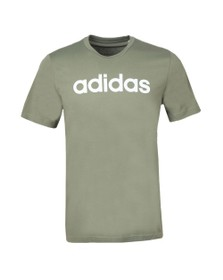 adidas Originals Mens Green Linear Logo T Shirt