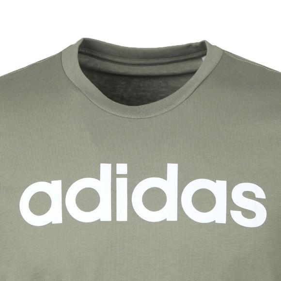 adidas Mens Green Linear Logo T-Shirt main image