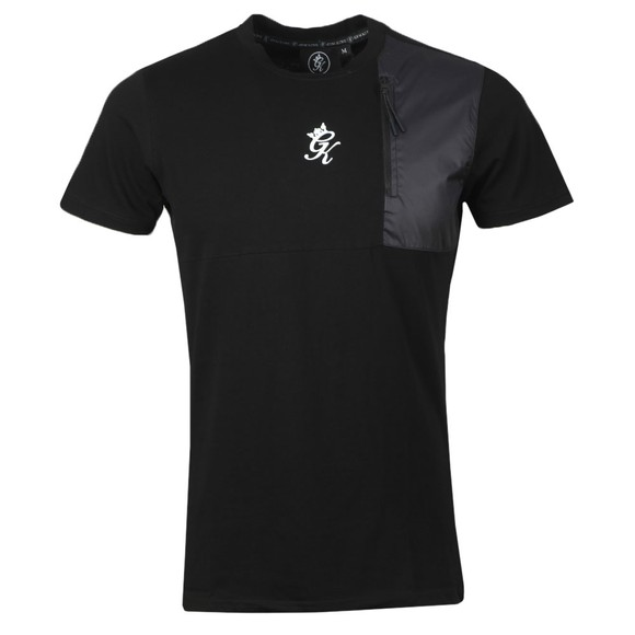 Gym King Mens Black Overlay T-Shirt