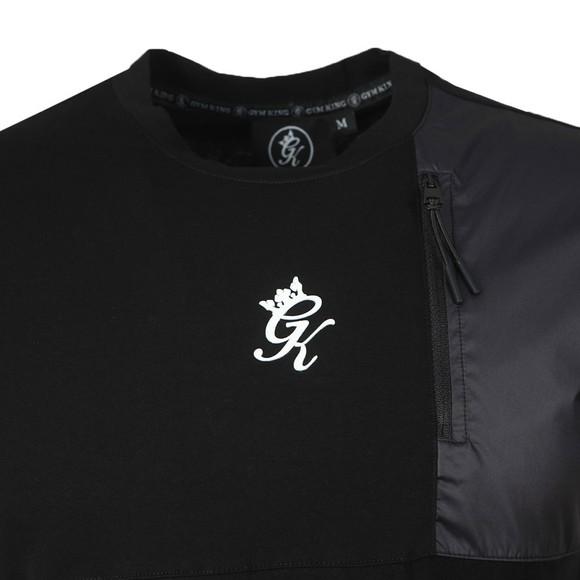 Gym King Mens Black Overlay T-Shirt