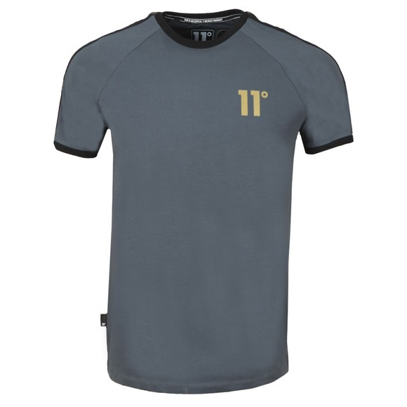 Eleven Degrees Mens Grey Taped Ringer T-Shirt main image