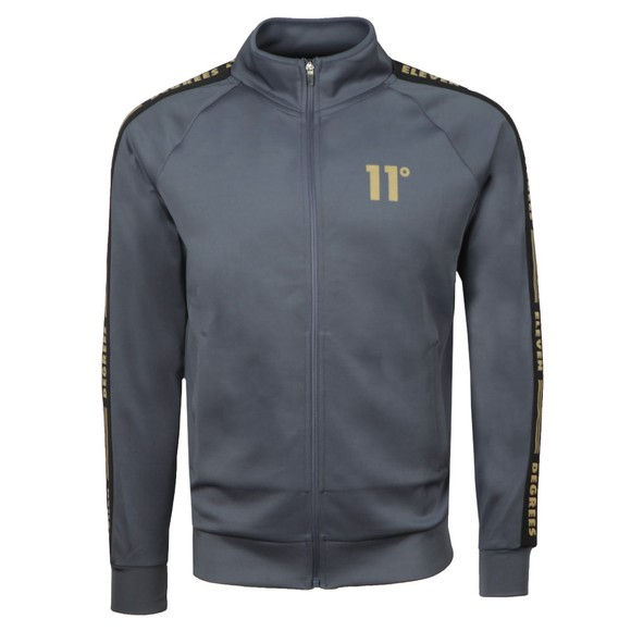 Eleven Degrees Mens Grey Taped Track Top