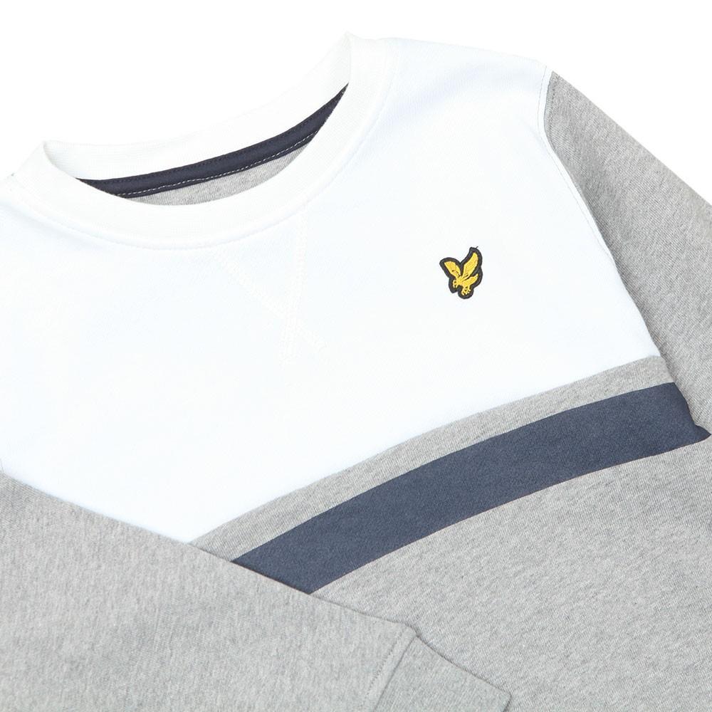 Yoke Stripe LB Crew Sweatshirt main image