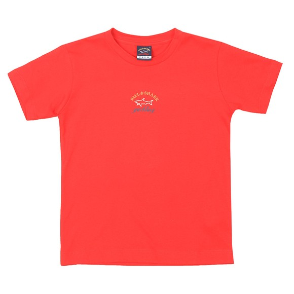 Paul & Shark Cadets Boys Red Chest Logo T Shirt