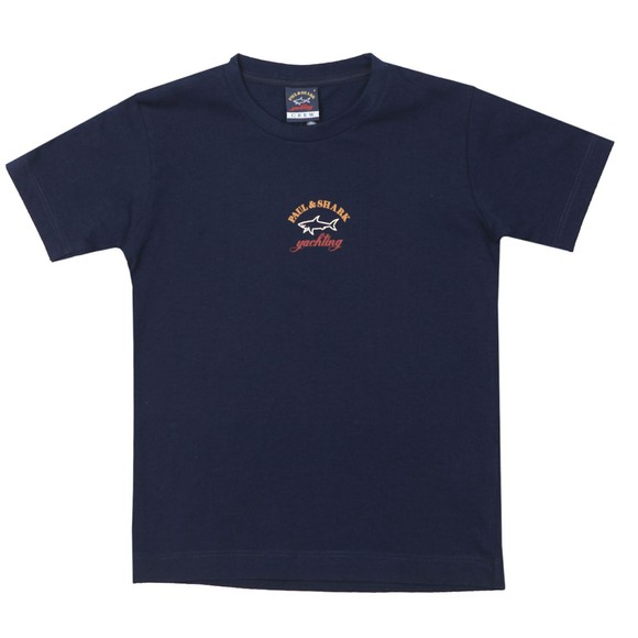 Paul & Shark Cadets Boys Blue Chest Logo T Shirt
