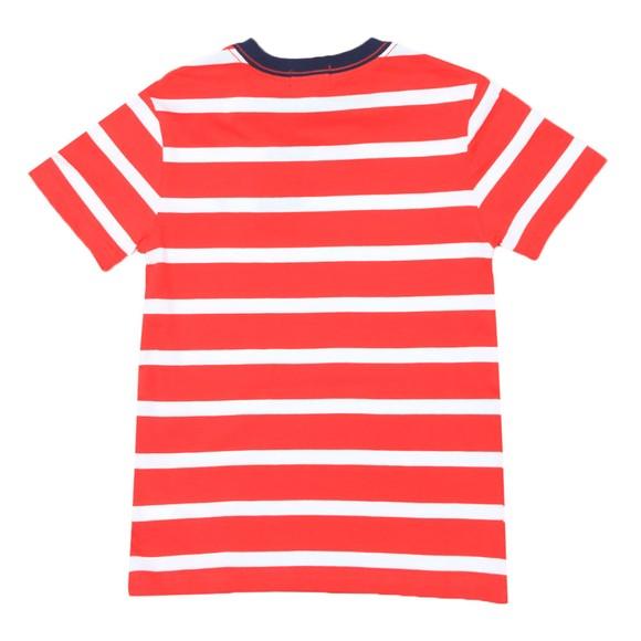 Polo Ralph Lauren Boys Red Block Stripe Crew T Shirt main image