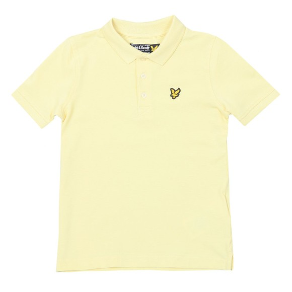 Lyle And Scott Junior Boys Yellow Classic Marl Polo Shirt