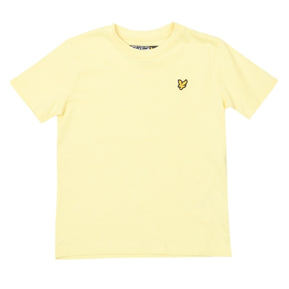 Lyle And Scott Junior Boys Yellow Plain Crew T-Shirt