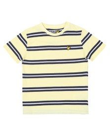 Lyle And Scott Junior Boys Yellow Wide Double Stripe T-Shirt